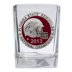 2013 BCS National Champions Florida State Seminoles Square Shot Glass - Enameled