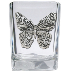 Butterfly Square Shot Glass