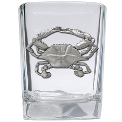 Blue Crab Square Shot Glass
