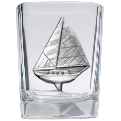 Sail Boat Square Shot Glass