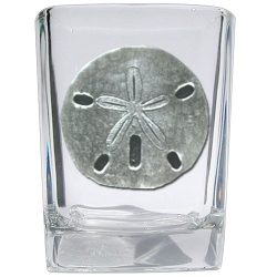 Sand Dollar Square Shot Glass