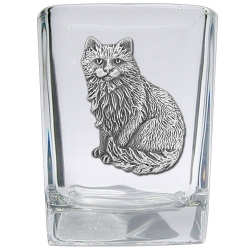 Cat Sitting Square Shot Glass