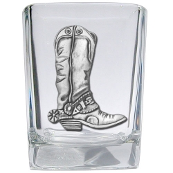 Cowboy Boot Square Shot Glass