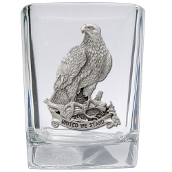 "Bald Eagle ""United We Stand"" Square Shot Glass"