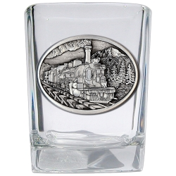Train Square Shot Glass