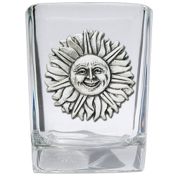 Sunface Square Shot Glass