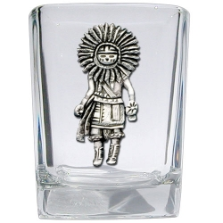 Sun Kachina Square Shot Glass
