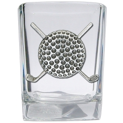 Golf Ball Square Shot Glass