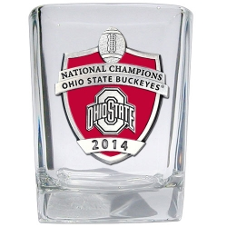 2014 BCS National Champions Ohio State Buckeyes Square Shot Glass - Enameled