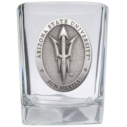 "ASU ""Pitchfork"" Square Shot Glass"