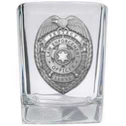 Law Enforcement Square Shot Glass