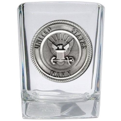 Navy Square Shot Glass