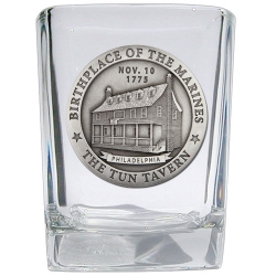 "Marine Corps ""Historic"" Square Shot Glass"