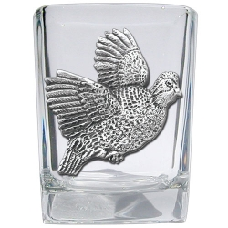 Bobwhite Quail Square Shot Glass