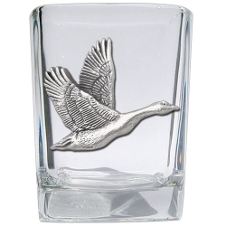 Canadian Goose Square Shot Glass