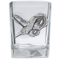 Hummingbird Square Shot Glass