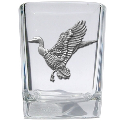 Mallard Duck Square Shot Glass