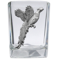 Pheasant Square Shot Glass