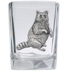 Racoon Square Shot Glass