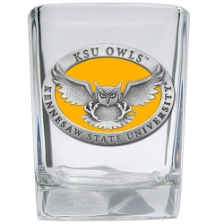 Kennesaw State University Square Shot Glass - Enameled