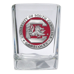"University of South Carolina ""Gamecocks"" Square Shot Glass - Enameled"