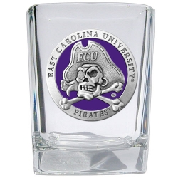 East Carolina University Square Shot Glass - Enameled