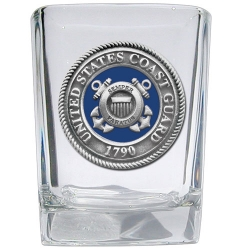 Coast Guard Square Shot Glass - Enameled