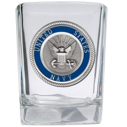 Navy Square Shot Glass - Enameled
