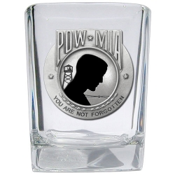POW MIA Square Shot Glass - Enameled