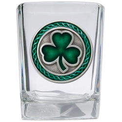 Clover Square Shot Glass - Enameled