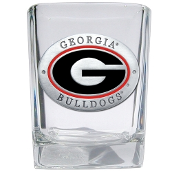 "University of Georgia ""G"" Square Shot Glass - Enameled"
