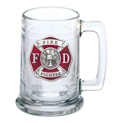 Firefighter Stein - Enameled
