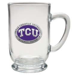 Texas Christian University Clear Coffee Cup - Enameled