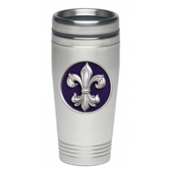Fleur de Lis #3 Thermal Drink - Enameled