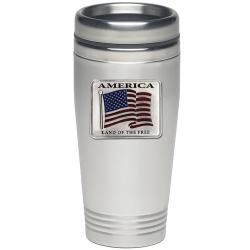US Flag Thermal Drink - Enameled