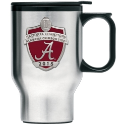 2015 CFP National Champions Alabama Crimson Tide Thermal Travel Mug - Enameled