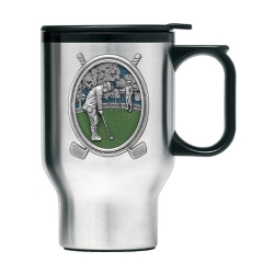"Golf ""Putter"" Thermal Travel Mug - Enameled"