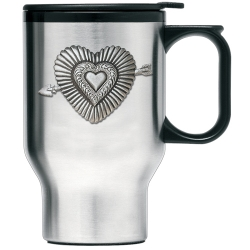 Heart Thermal Travel Mug