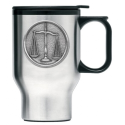 Law - Scales of Justice Thermal Travel Mug