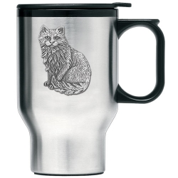 Cat Sitting Thermal Travel Mug