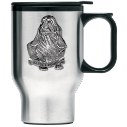 Basset Hound Thermal Travel Mug