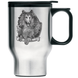 Collie Thermal Travel Mug