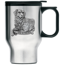 Golden Retriever Thermal Travel Mug