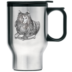Shetland Sheepdog Thermal Travel Mug