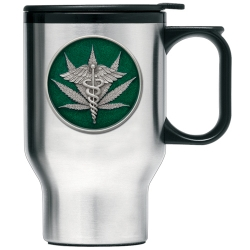 Marijuana #2 Thermal Travel Mug - Enameled