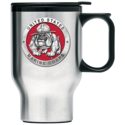 "Marine Corps ""Bulldogs"" Thermal Travel Mug - Enameled"