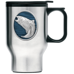 Trout Thermal Travel Mug - Enameled