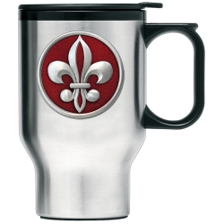 Fleur de Lis #2 Thermal Travel Mug - Enameled