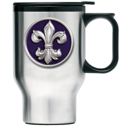 Fleur de Lis #3 Thermal Travel Mug - Enameled