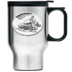 Snowmobile Thermal Travel Mug - Enameled